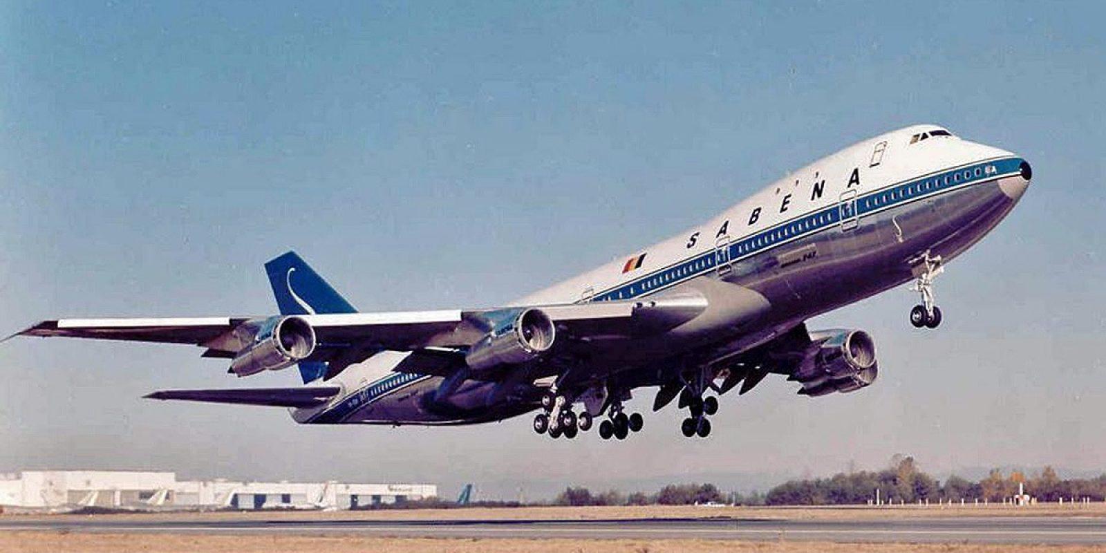 De eerste Boeing 747 voor Sabena bij de start in Everett (Washington). (Foto: Boeing)