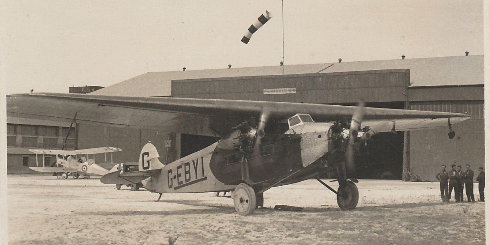 Een prachtfoto van het zakenvliegtuig Fokker F.VIIa/3m G-EBYI. (Archief Roger Birchall)