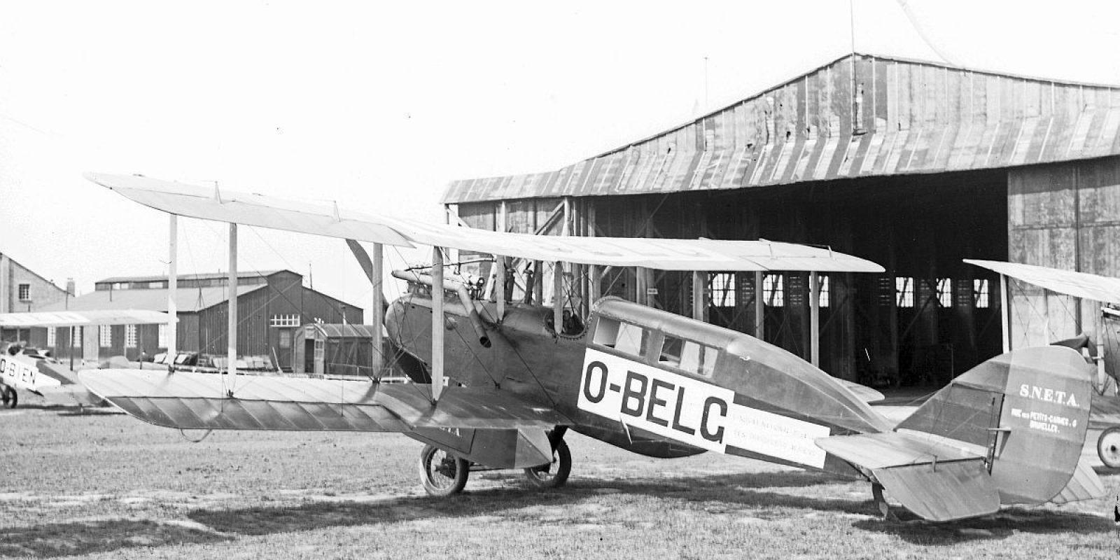 La flotte de la SNETA est assez hétéroclite. Ici le DH-9 « cabine » O-BELG.