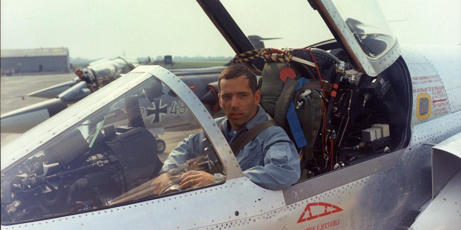 Aux commandes d'un Mirage 5 au début des années septante (Jean-Pierre Decock).