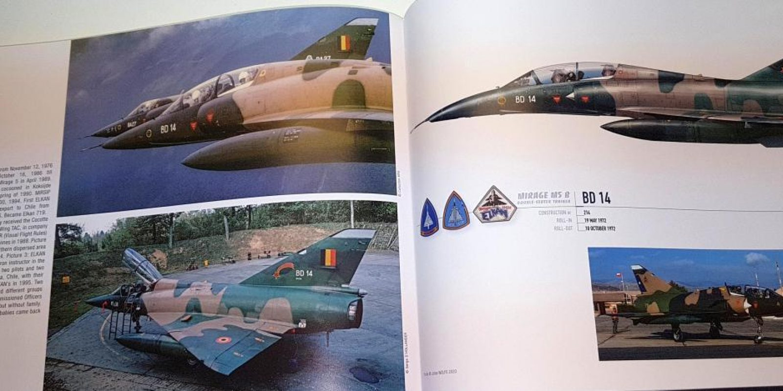 Chaque avion fait l'objet de 2 à 4 pages de texte, photos inédites et d'un profil couleur en présentation à l'italienne. (Photo Bob Verhegghen)