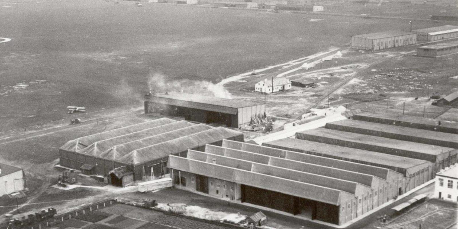 Le siège de la SBACA à Haren dans les années vingt. (Photo Charles Mali)