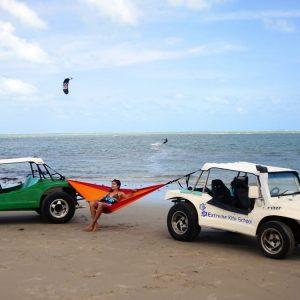Amazonas Adventure hammock fire på stranden