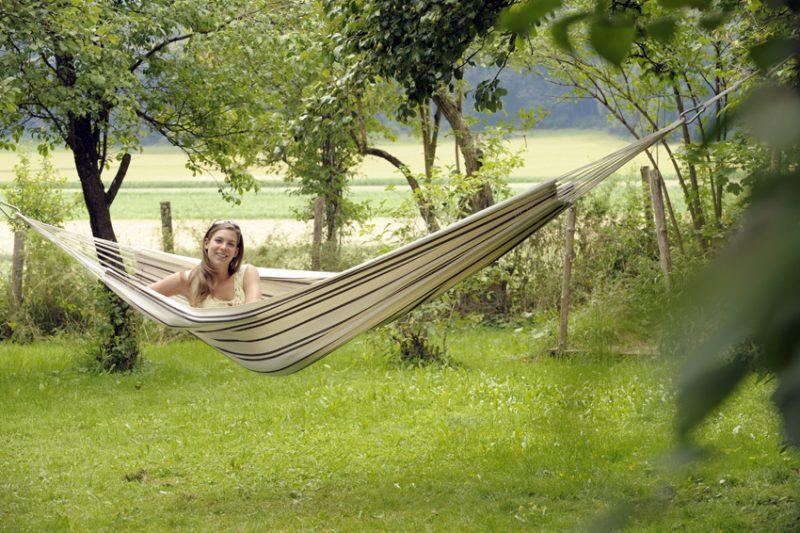 Amazonas Barbados cappuccino - dubbel hängmatta utomhus