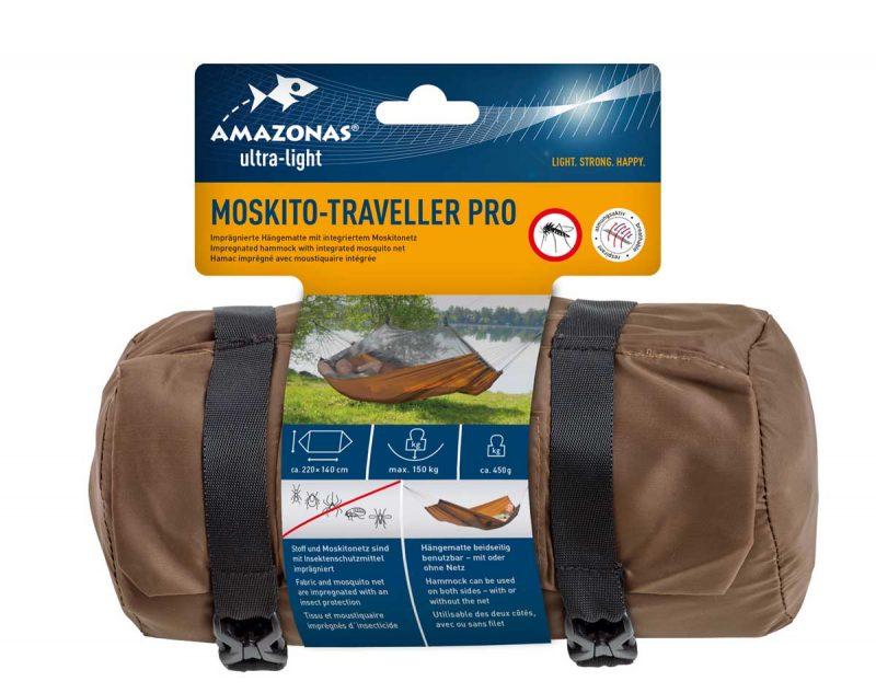 Amazonas Moskito Traveller hammock PRO - vildmarkshammock med moskitonät - förpackning