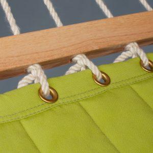 La Siesta Alabama avocado - vadderad kingsize hängmatta detalj