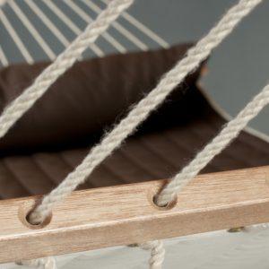 La Siesta Alabama arabica - vadderad kingsize hängmatta detalj