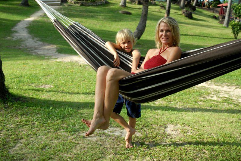 Amazonas Barbados mocca - hängmatta för två - utomhus