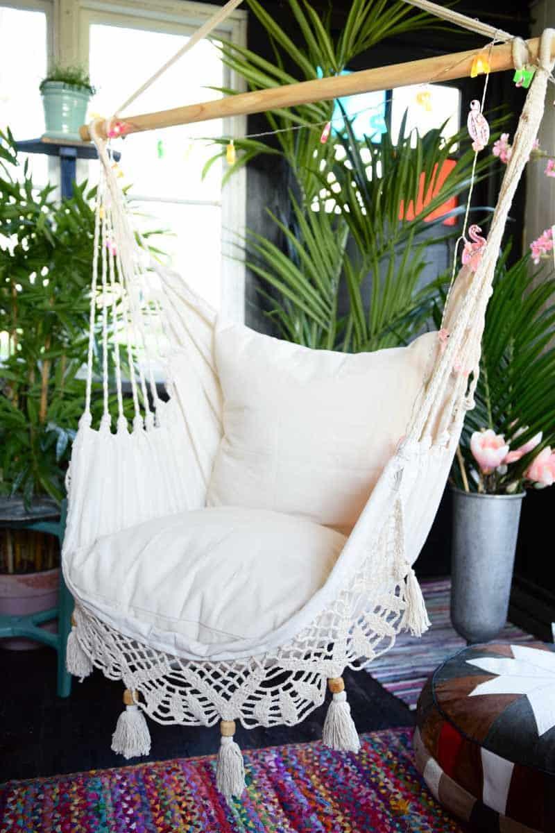 Lazy Rest hängfåtölj Deluxe - hängstol large med kuddar