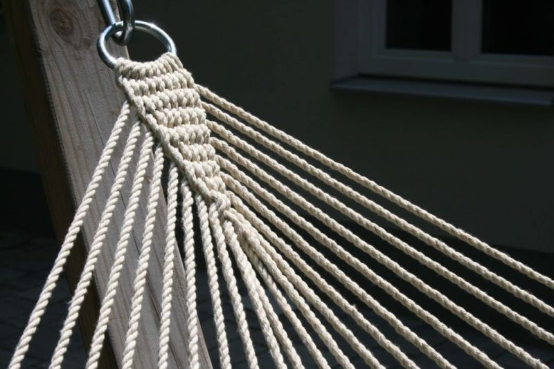 Macamex California terra - vadderad kingsize hängmatta med slitstark upphängning