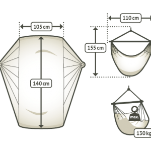 Storlek hängstol basic