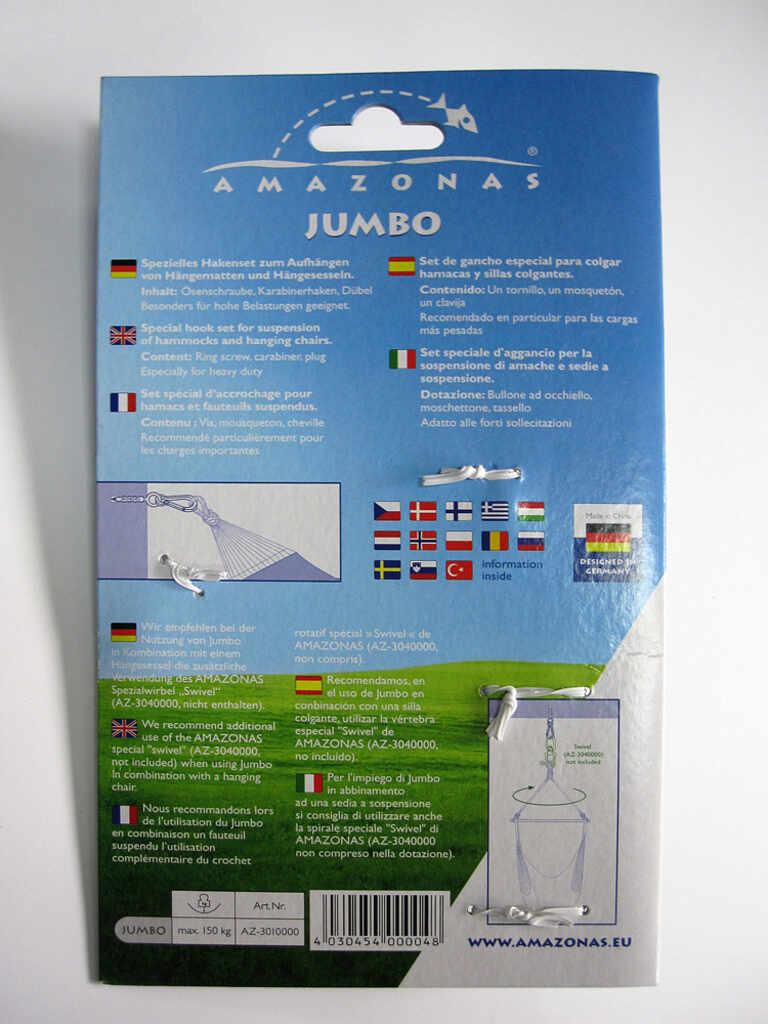Amazonas Jumbo takfäste - detalj