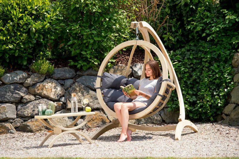 Amazonas hängstol Globo Chair antracit - lyxig uteplats