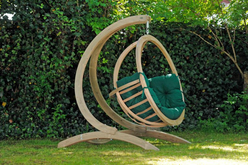 Amazonas hängstol Globo Chair verde och Globo ställning