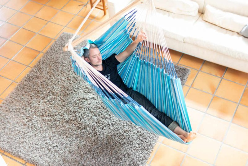 La Siesta Habana Lounger azure - perfekt inomhus
