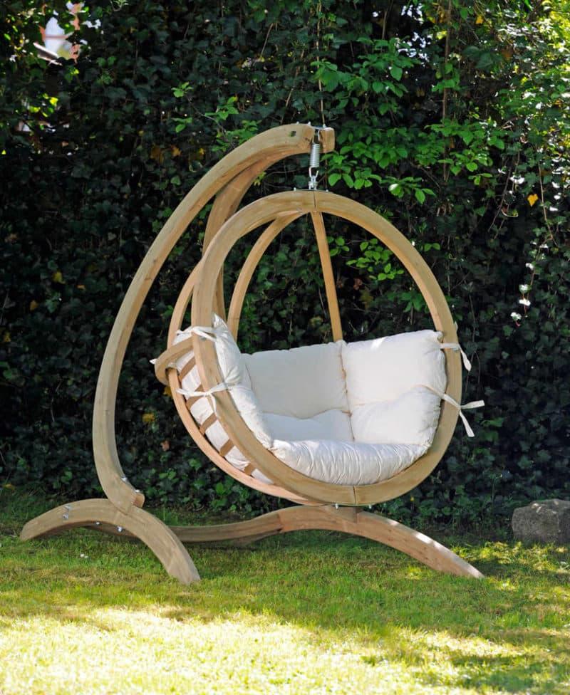 Amazonas hängstol Globo chair natura - med Globo ställning