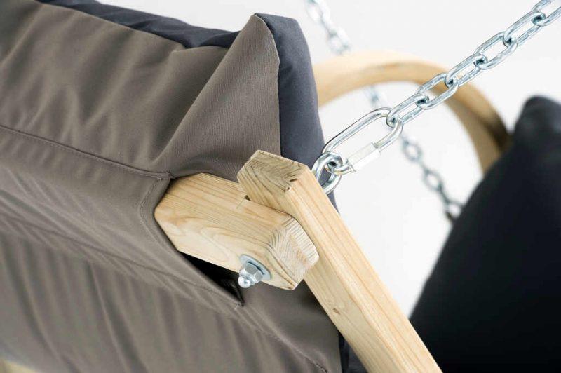 Amazonas hängstol Fat Chair antracit - detalj