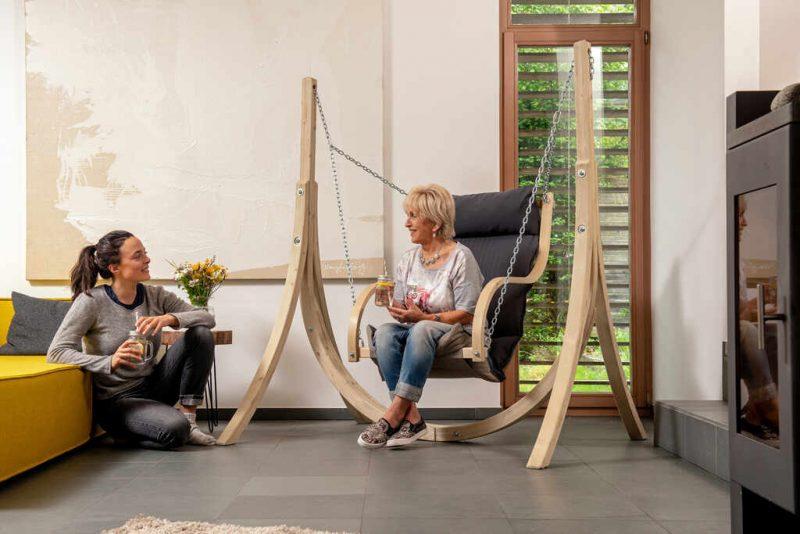 Amazonas hängstol Fat Chair antracit - hängfåtölj perfekt inomhus