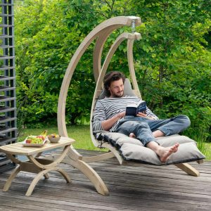 Amazonas Swing Lounger antracit - perfekt för uteplatsen