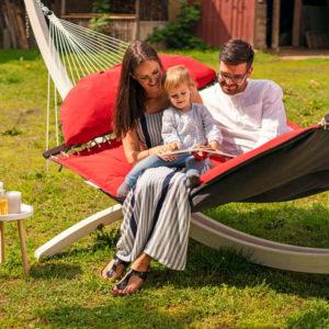 Amazonas hängmatta Fat Hammock röd - lyx för hela familjen