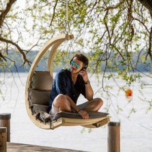 Amazonas Swing Chair antracit - mysig hängfåtölj för utomhus