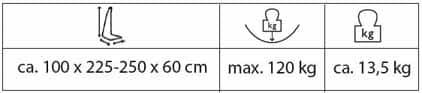 Amazonas Palmera rockstone - storlekstabell
