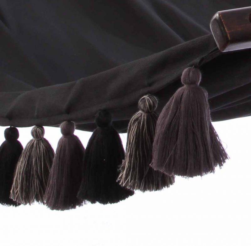 Lazy Rest hängmatta Tassel black - detalj