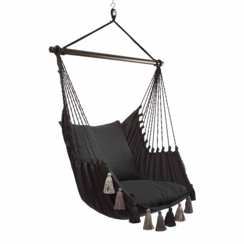 Lazy Rest hängfåtölj Tassel black