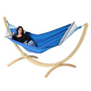 Tropilex hängmatta Relax blue - med ställning