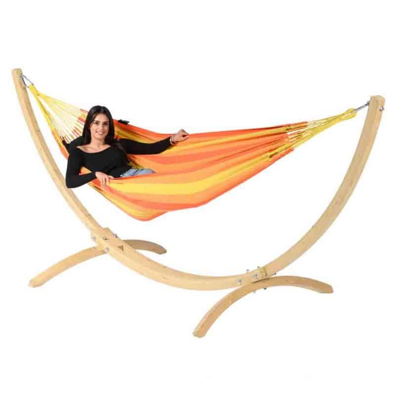 Tropilex Dream orange och Wood ställning
