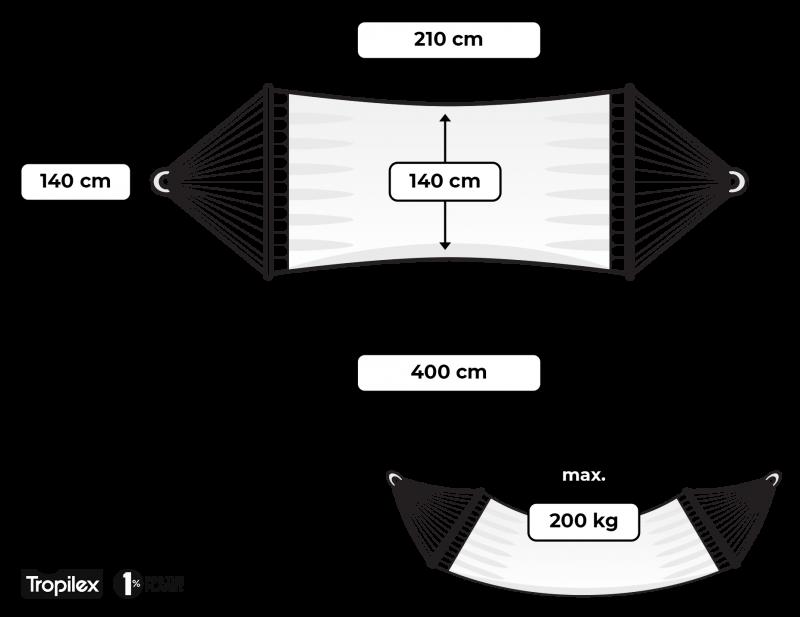 Tropilex hängmatta med spridare kingsize