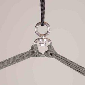 LA SIESTA Domingo Comfort hängstol Almond - integrerad svängtapp