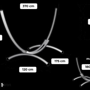 Tropilex Arc double - storlekstabell