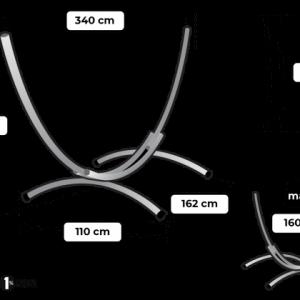Tropilex Arc single - storlekstabell