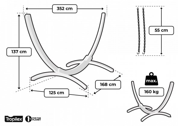 Tropilex Wood single - storlekstabell
