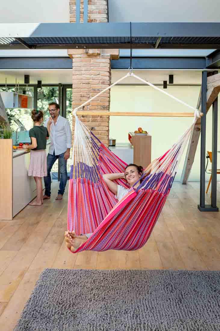 La Siesta Habana Lounger flamingo - hängstolar utomhus & inomhus