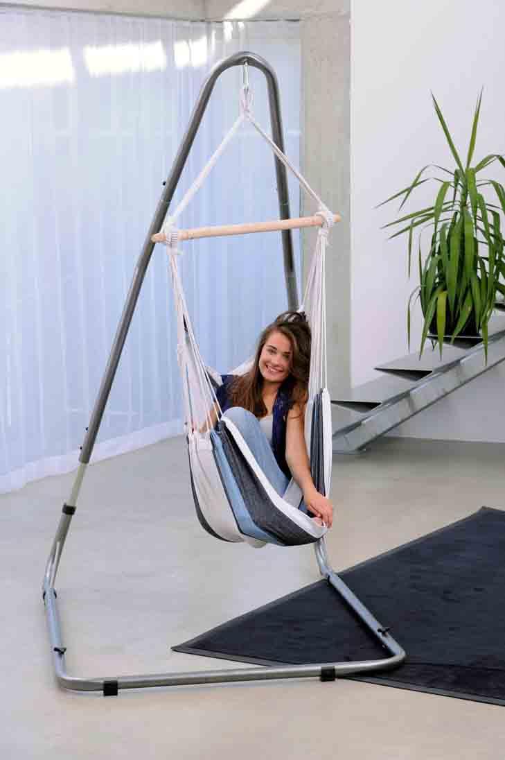 Amazonas hängstol Relax marine - med hängstolställning Luna