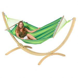 Tropilex Relax green - kombination med Wood ställning