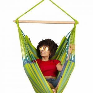 LA SIESTA Domingo Basic hängstol lime - bekväm vädertålig hängstol
