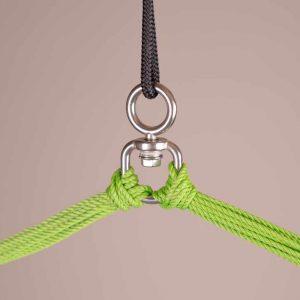 LA SIESTA Domingo Basic hängstol lime - detalj upphängning