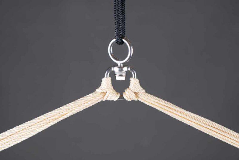 LA SIESTA Domingo Basic hängstol sea salt - detalj upphängning