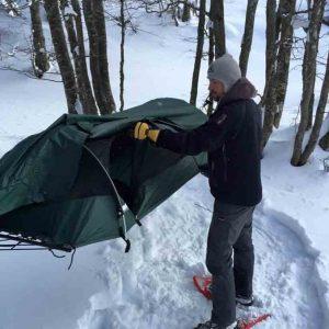 Lawson Hammock Blue Ridge - tälta på vintern