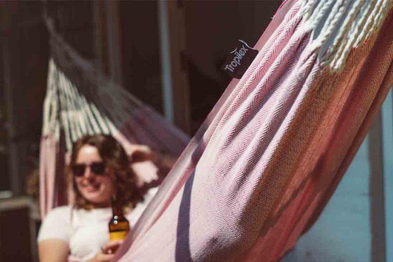 Tropilex Natural pink - hängmatta för 1 person utomhus