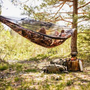 Amazonas Moskito Traveller Forest - hängmatta med myggnät för att sova ute