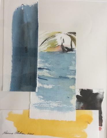 Collage. Havet. Hanne Ohlsen