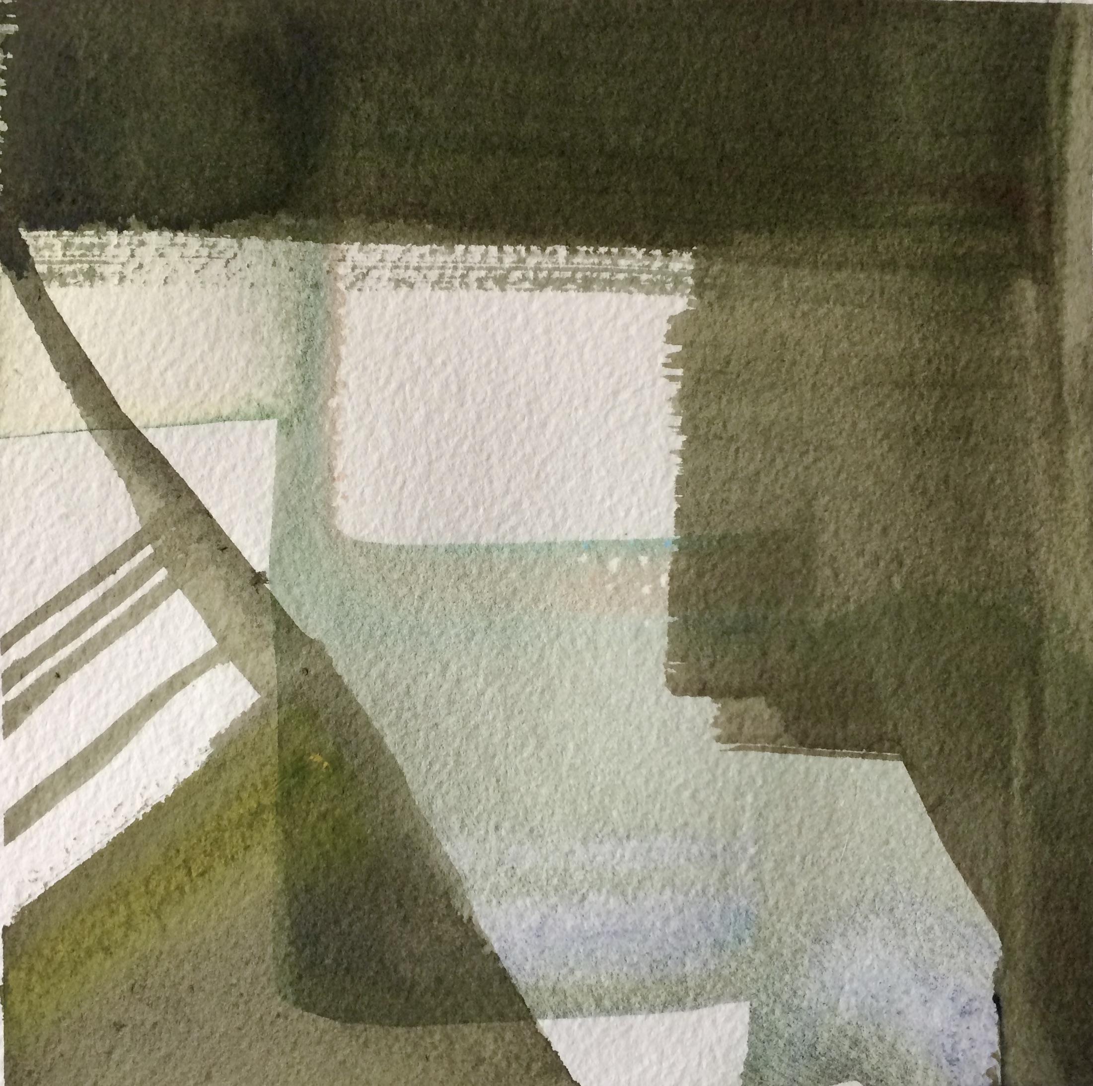 Eksperimentelt. Akvarel. Hanne Ohlsen