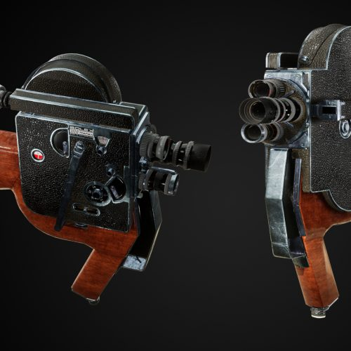 Bolex 8mm camera gun