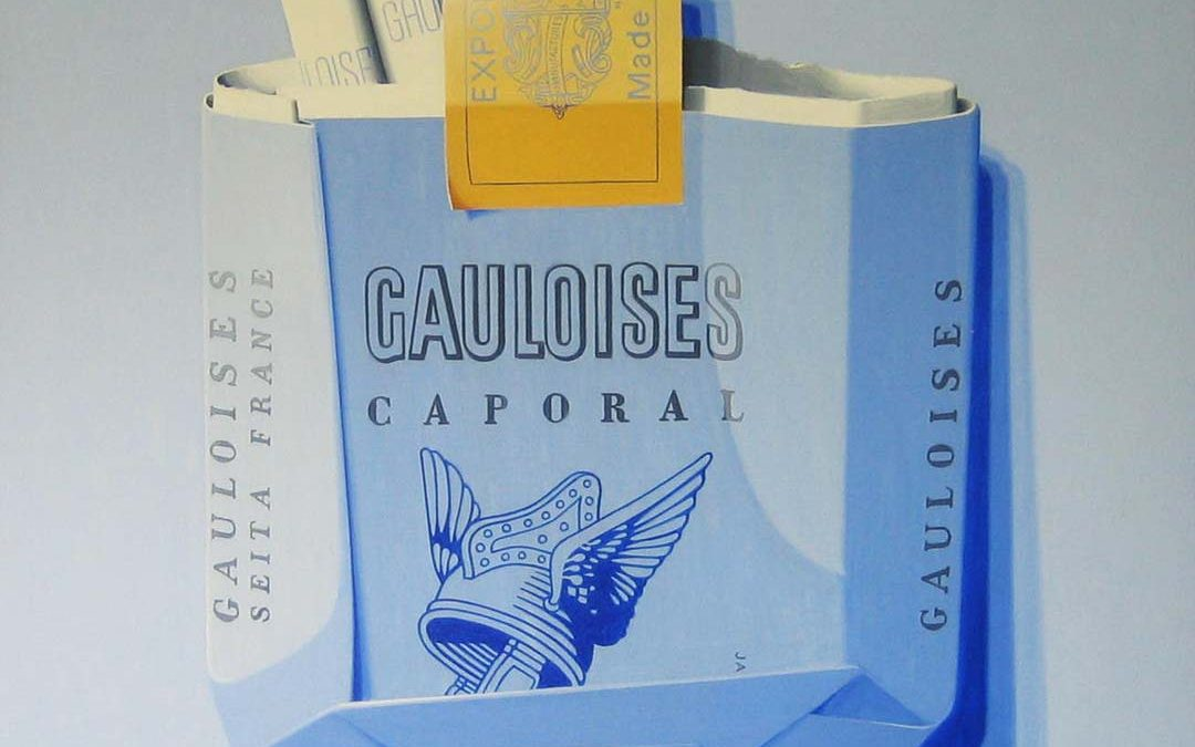 Crashed Gaulois Caporal Cigarettes