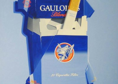 Vintage Gauloises with blue shadow