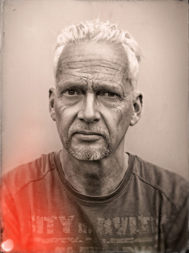 Portret of hans petersen, dutch photographer/visual artist.